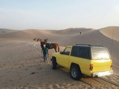 off-road in Yazd desert