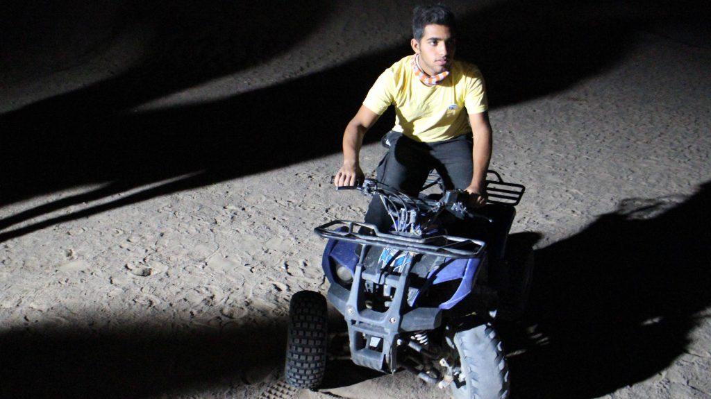 موتور چهار چرخ در کویر یزد